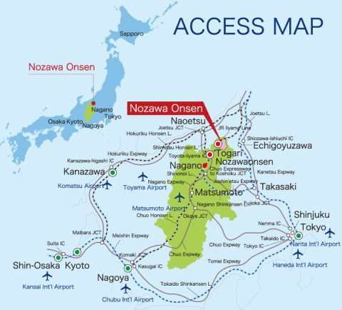 Nozawa Onsen Location