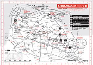 Nozawa Onsen Town Map