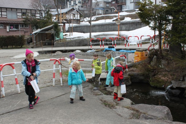 The great Easter Egg hunt underway in Nozawa