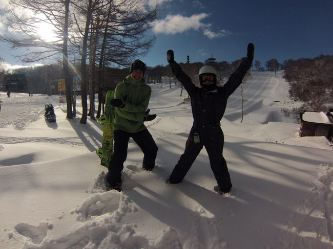 The first day of the Season for Nozawa Onsen on November 30th 2013. Fresh snow, sunshine and some fun. The season is looking good!