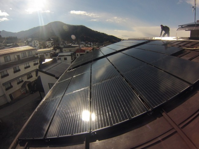 Villa Nozawa doing their bit to help the environment by installing a large Solar System. Feel good about yourself staying with us!
