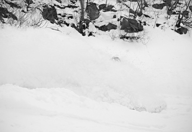 Jerry gets overhead in the deep Nozawa powder.