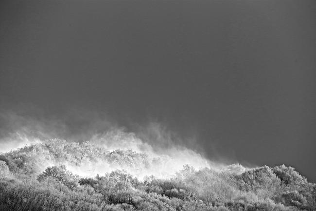 A windswept peak just outside of Nozawa Onsen