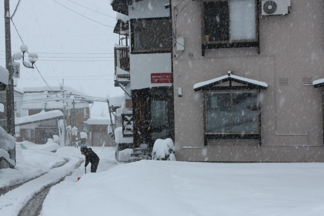Get the shovels out! We are getting snowed under in Nozawa already!