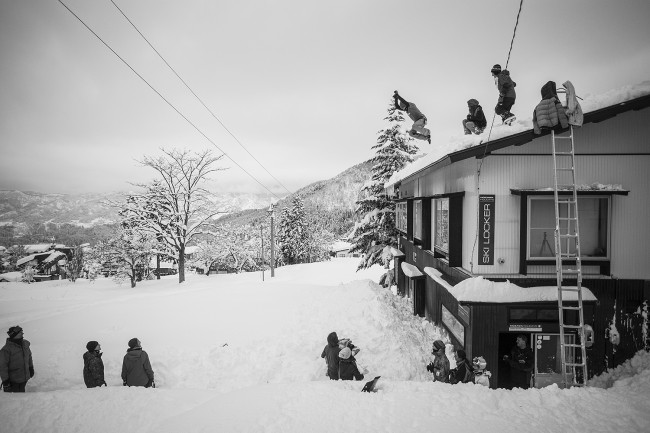 The roof leap. A seasonal initiation.