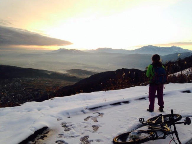 Was this the last Mountain bike tour of the Green Season in Nozawa Onsen?