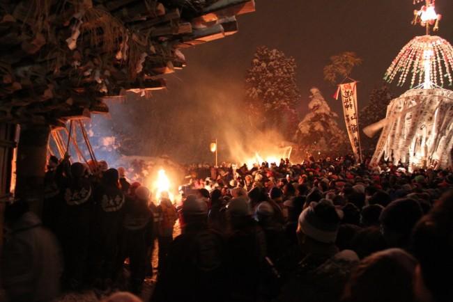 The Nozawa Onsen Fire Festival. It is an amazing night.