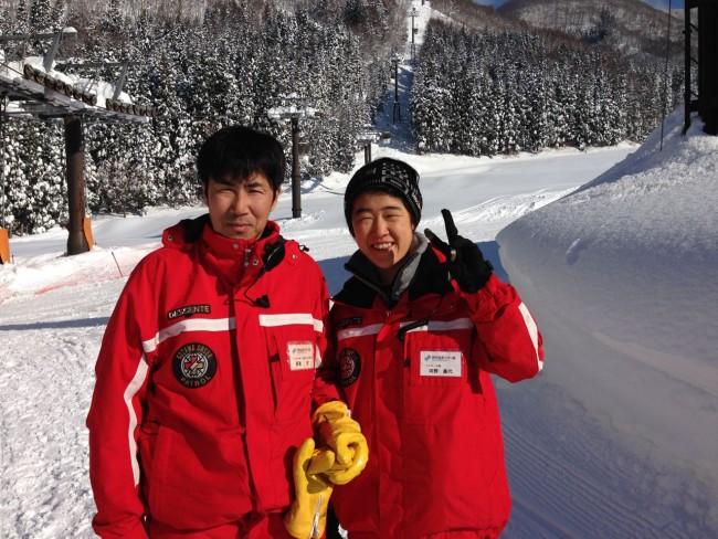 The hard working Ski Patrol of Nozawa Onsen. Thanks for a great season . Otsukaresama