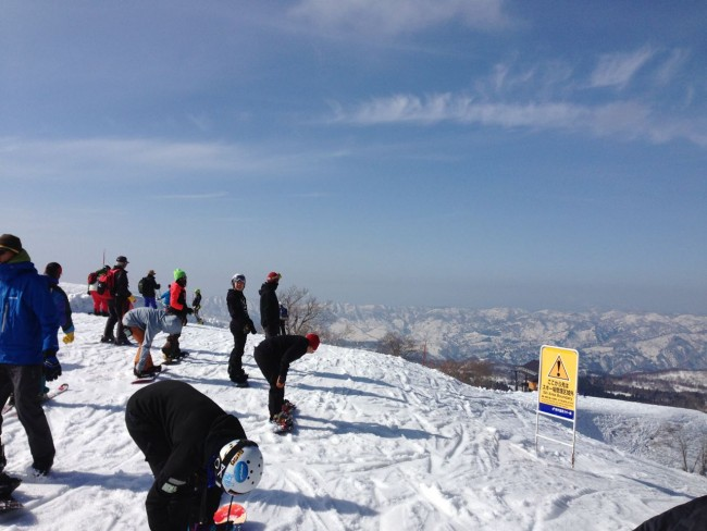 Awesome spring day up top yesterday in Nozawa