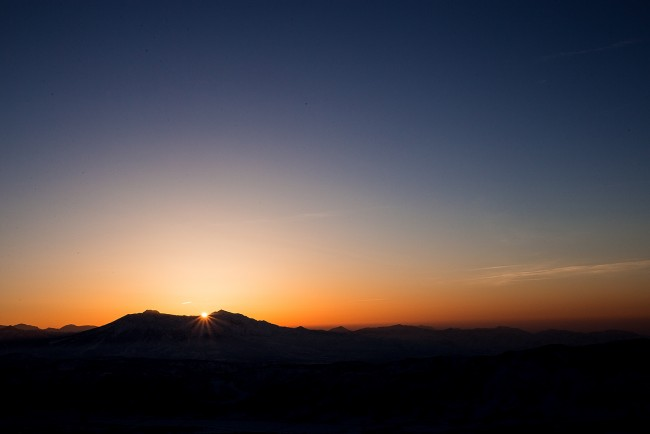 Last light from Mt Kenashi