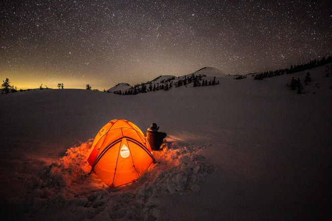 Stargazing high in the Japan Alps.