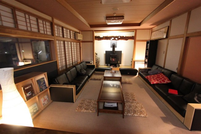 Villa Nozawa Lounge room a great place to gather at the end of the day for a beer and a chat