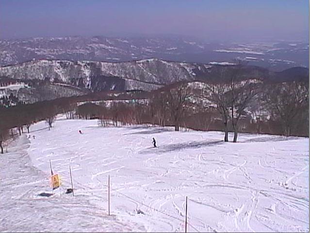 Web Cam shot of Yamabiko this morning, beautiful spring day here in Nozawa