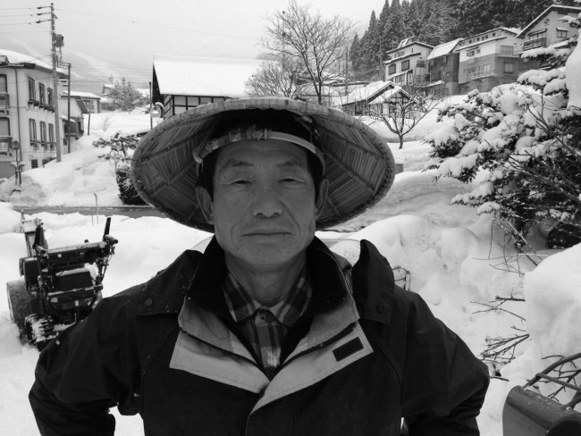 Nashimoto san always on hand with a smile and a chat after over 40 years working in Nozawa Onsen
