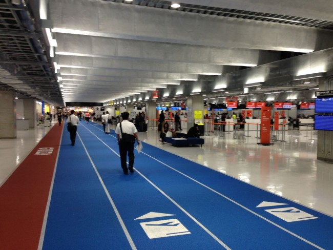 Terminal 3 Narita Airport dont forget your running shoes!
