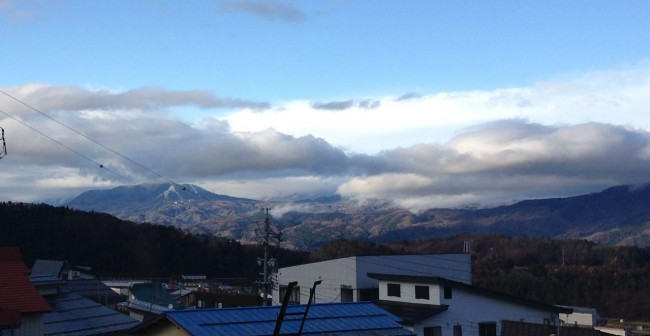 Bit of white magic across the valley from Nozawa at Madarao Ski Resort
