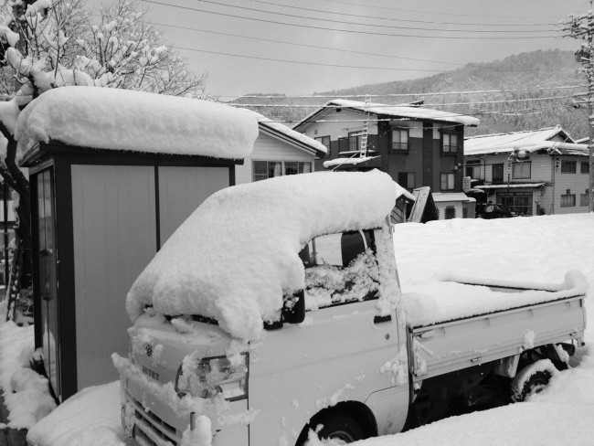 A New Years gift from the heavens in Nozawa Onsen with 20cm of fresh snow today