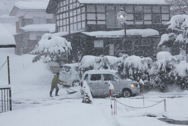 Has been dumping all night in Nozawa and still going hard!