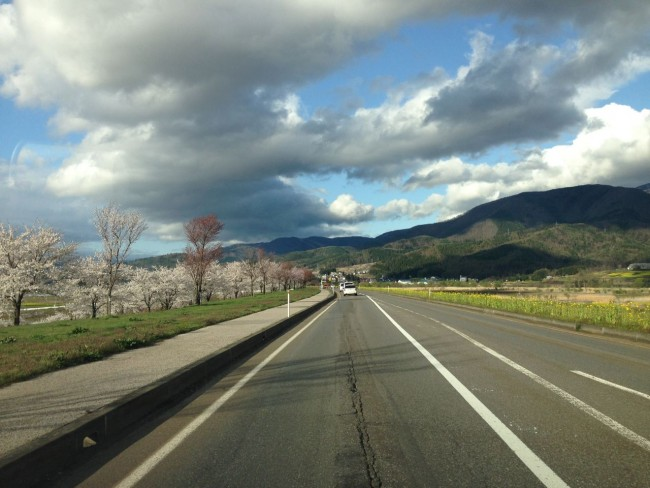 The road between Iiyama and Nozawa always spectacular at this time of year.