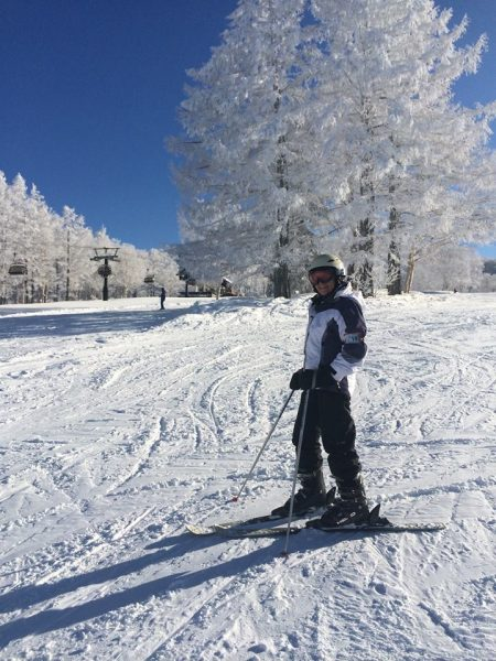 Still Skiing with a smile at 76! gets a Seniors discount in Nozawa too!