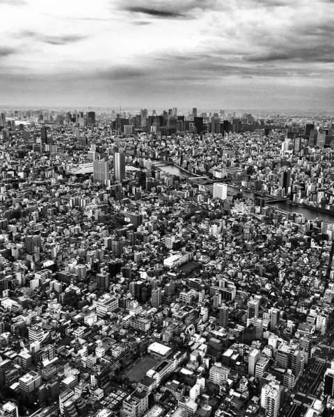 Tokyo Skyline is amazing to see. This is the view from the SkyTree. Thanks Jessica