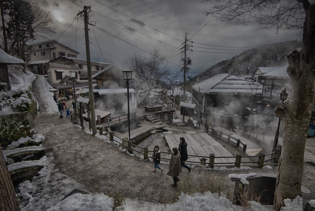 Ogama Cooking Onsen in Nozawa Onsen. A very mystical part of the village. Photo by David Larcombe