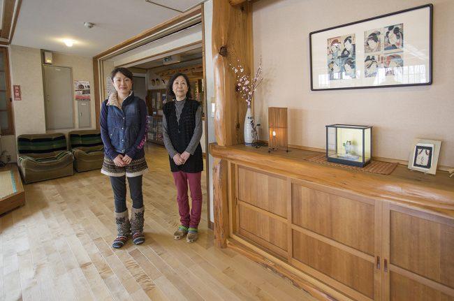 Fumiko san and Mutsuko san terrific hosts at Furusato Lodge in Nozawa Onsen