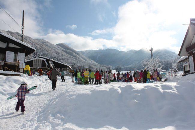 Karasawa slopes and lifts located just above Furusato Lodge