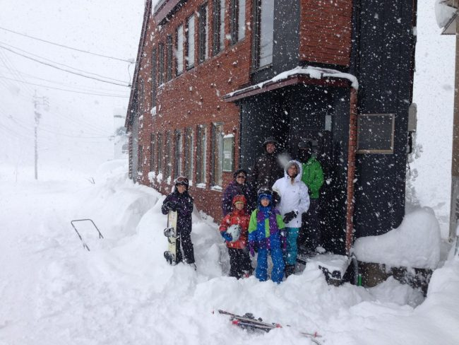 This shot was early December a few years ago. Teh family had to dig thier way out at Nozawa Cottage
