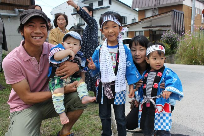 Nozawa Onsen is all about families, always has been.