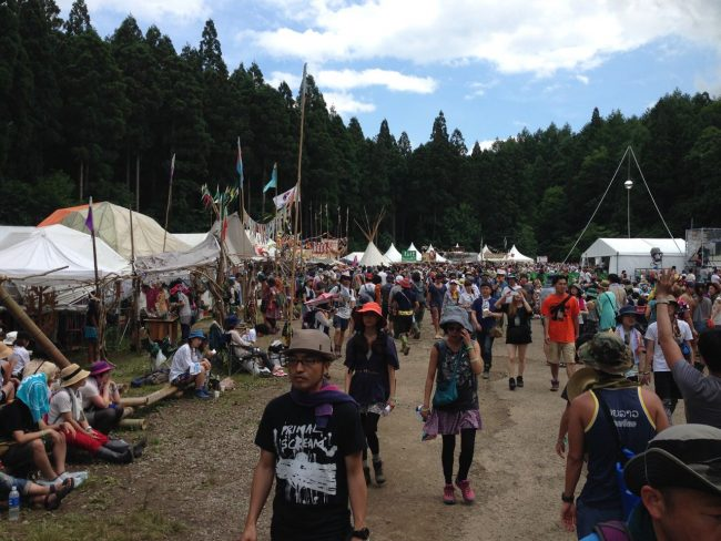 Amazing set up like a little village with stalls, markets and work shops at Fuji Rock