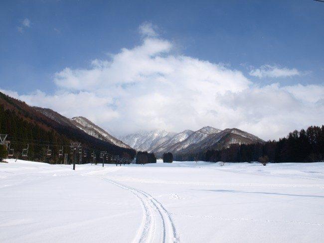 Empty slopes single tracks Nozawa