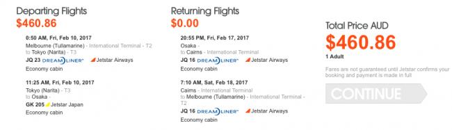 Sale Jetstar Free Return