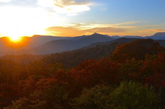 Autumn Nozawa Koyo Sunset