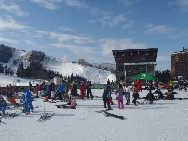 Ski Race Nozawa Finish