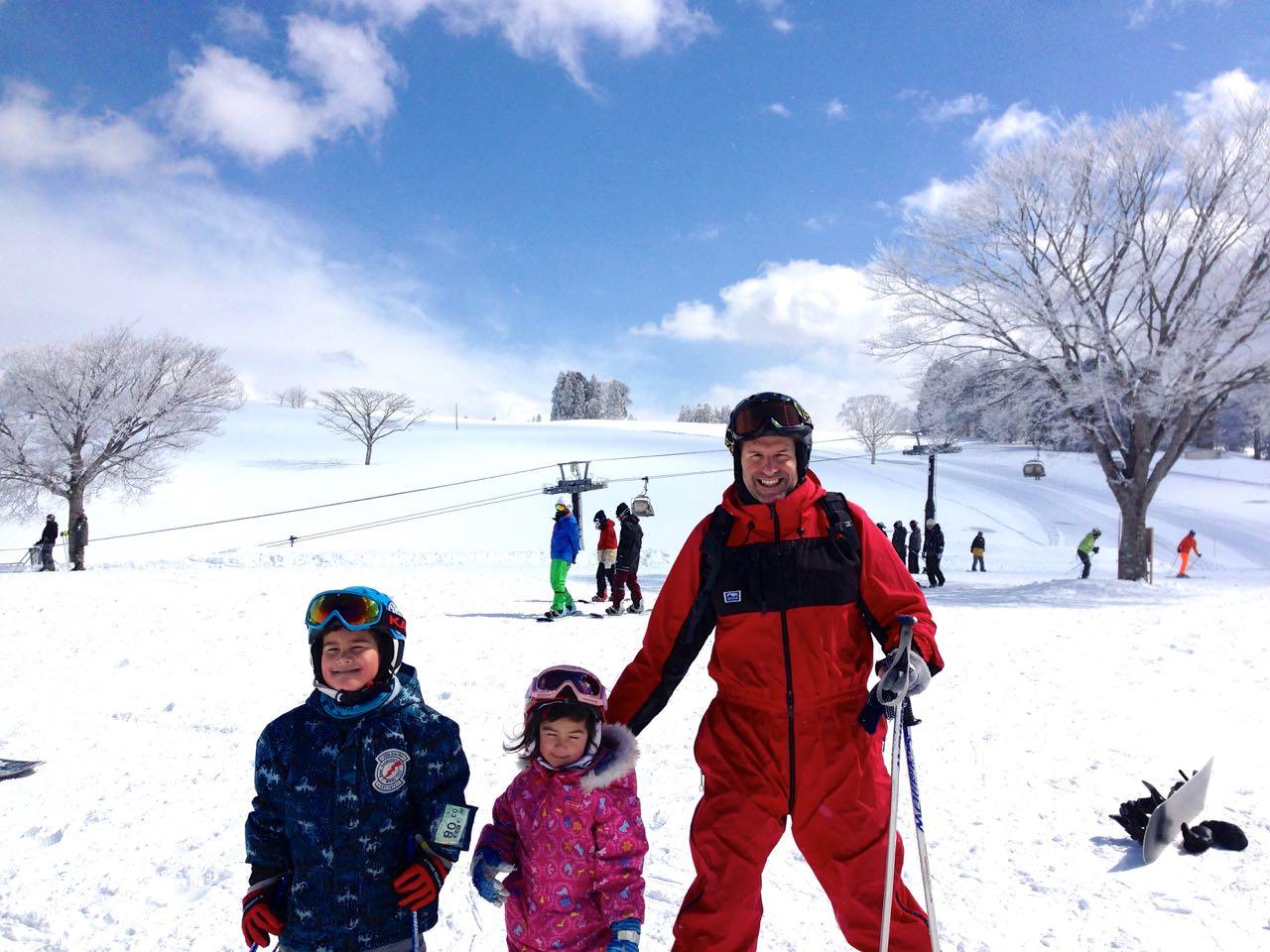 Kids Skiing Nozawa Onsen Japan