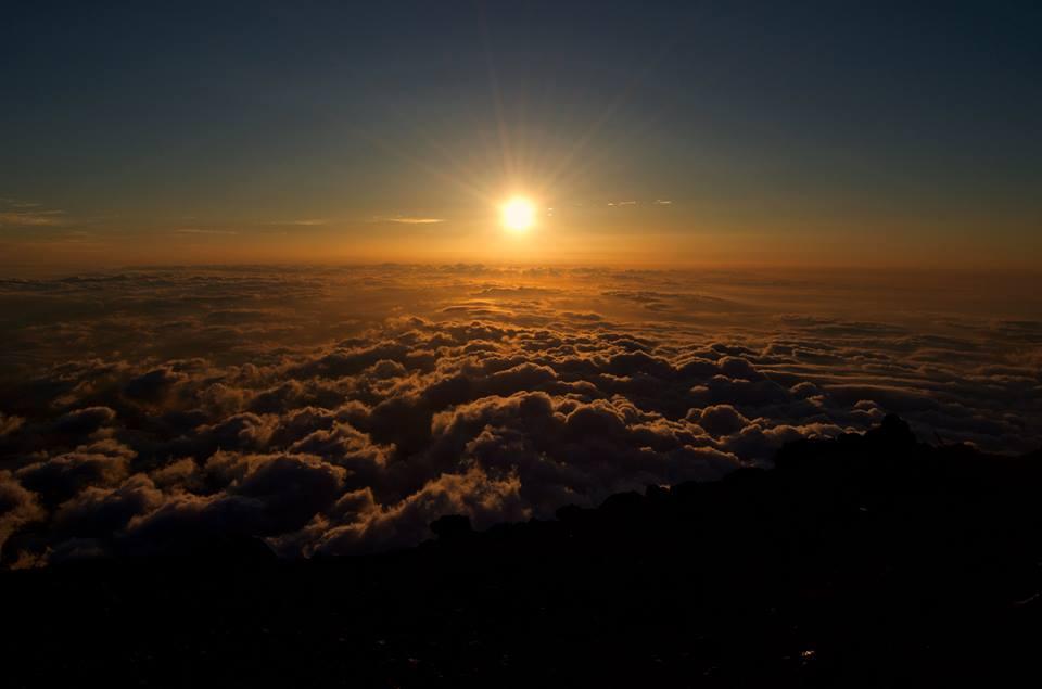Climbing Mt Fuji Japan
