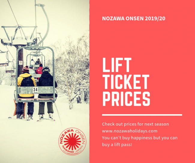 Lift Pass Prices Nozawa Japan