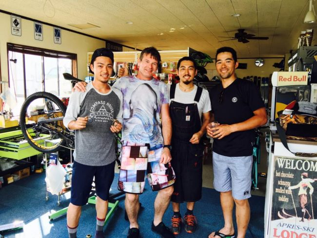 Compass House MTB team Nozawa Onsen