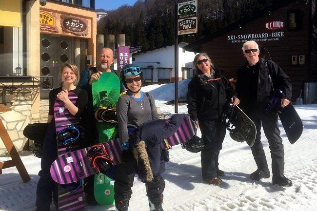 Seniors ski Nozawa Onsen Japan