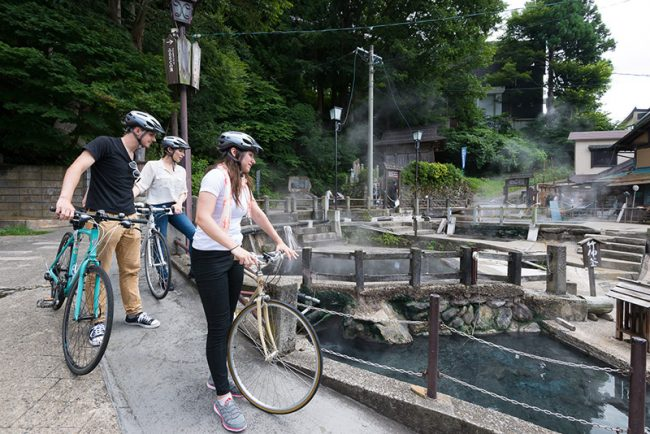 Nozawa Onsen Old Village by bike
