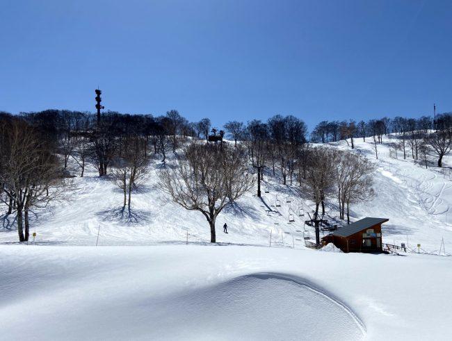 Snow April in Japan