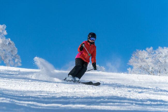 Women Skiing Nozawa Japan
