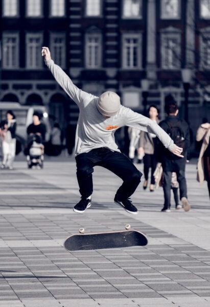 Olympic Gold Japan Skateboard
